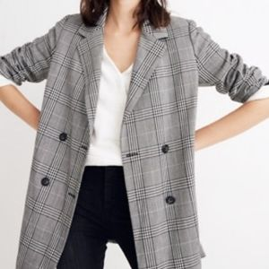 Madewell Caldwell Double-breasted blazer plaid